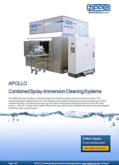 Sugino Z-Series Apollo Combined Spray-Immersion Cleaning Systems