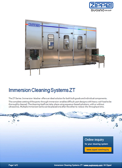 Immersion Cleaning Systems ZT