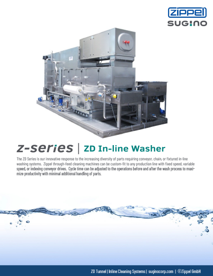 Sugino Z-Series ZD In-line Washer