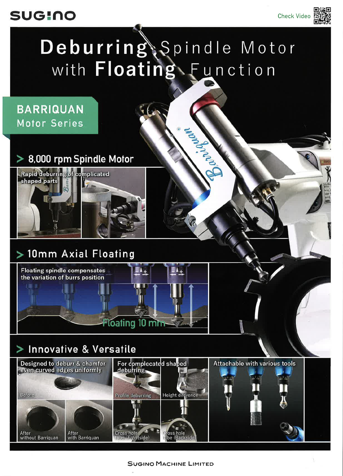 Sugino Barriquan Robotic Mechanical Deburring Machine